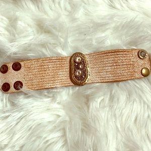 Leatherock cuff bracelet